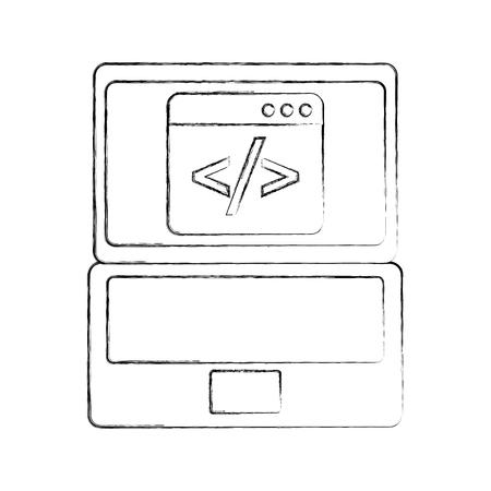 バイナリのコンピューター開発のデジタル ベクトル図をコーディング プログラムの開発