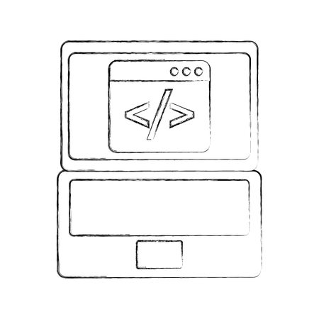 programm coding binary computer development digital vector illustration Illustration