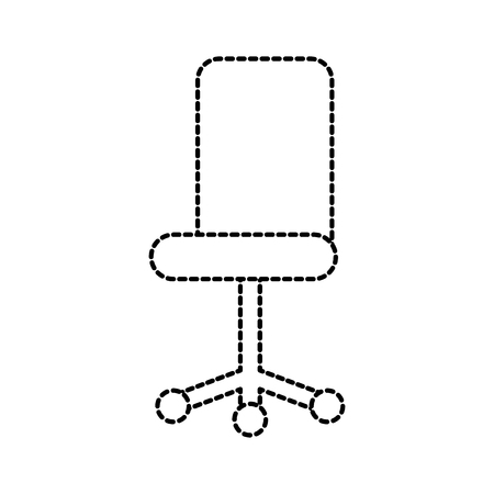 office chair furniture wheel equipment vector illustration