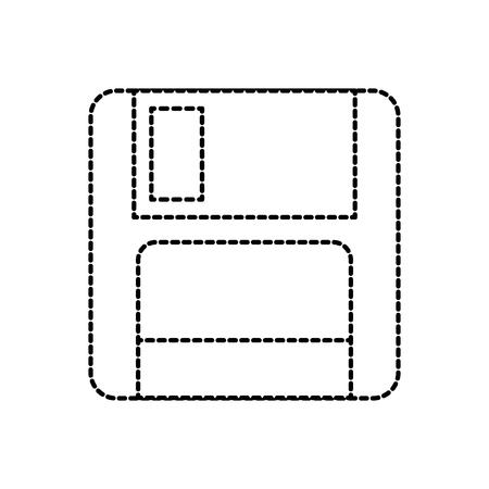 コンピュータデータストレージベクトル図の磁気フロッピーディスクアイコン