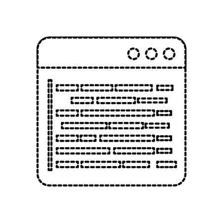 Página de programación de programación de desarrollo de datos ilustración vectorial web Foto de archivo - 87759551