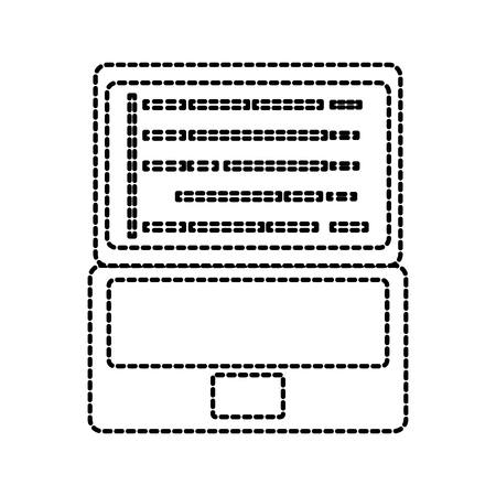 laptop coding concept web developer programming screen code vector illustration