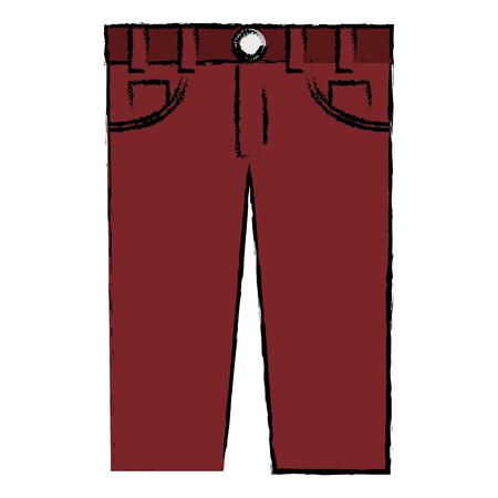 male jean casual clothes icon vector illustration design