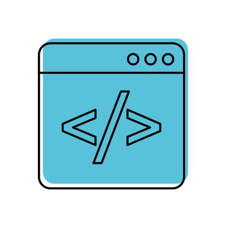 coding window web programming development vector illustration Illustration