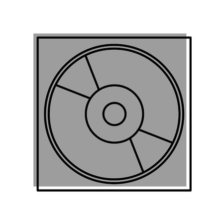 Cas pour dvd ou cd compact disque dur illustration vectorielle numérique Banque d'images - 87759563