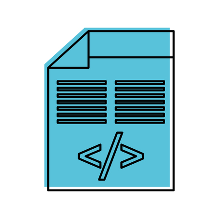 코딩 데이터 벡터 일러스트 레이 션의 스크립트로 프로그래밍 창