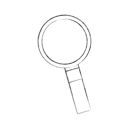 A finding the right information view program magnifying glass vector illustration. Illustration