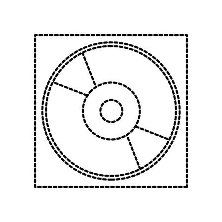 case for dvd or cd compact disk storage digital vector illustration Illustration