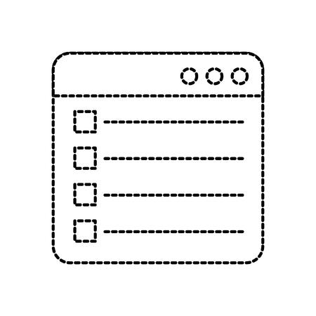 webpagina vinkje rapport lijst platte ontwerp grafisch element vectorillustratie