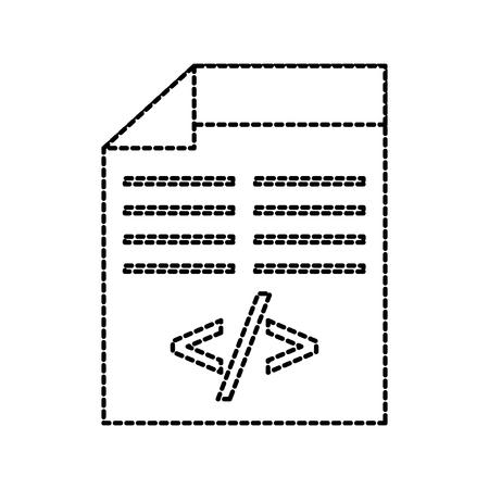programming window with script of coding data vector illustration