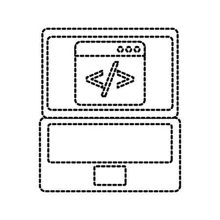 programm coding binary computer development digital vector illustration 向量圖像