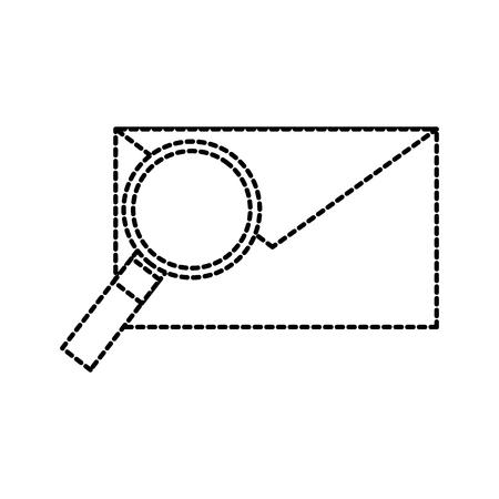 Email e lente di ingrandimento messaggio trovare illustrazione vettoriale Archivio Fotografico - 87759437