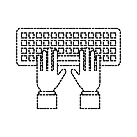 손 프로그래머 입력 키보드 기술 벡터 일러스트 레이션 일러스트