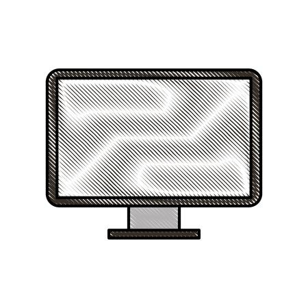 コンピューター デバイス技術ベクトル図の画面モニター。