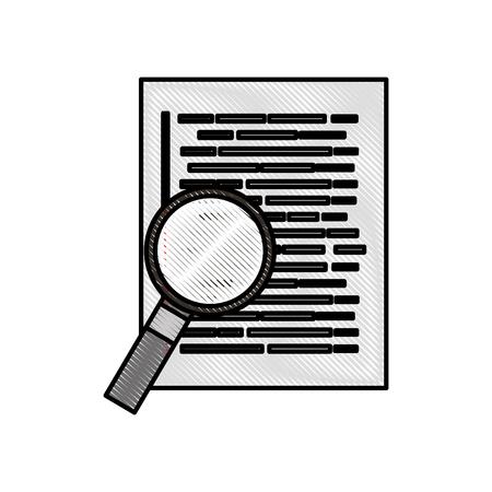document web page magnifier developer language vector illustration