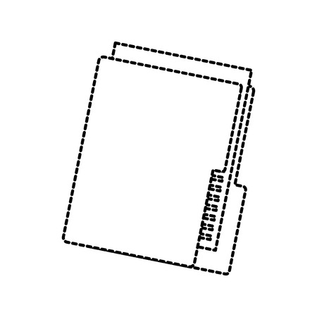 folder file organizer technology data storage vector illustration Çizim