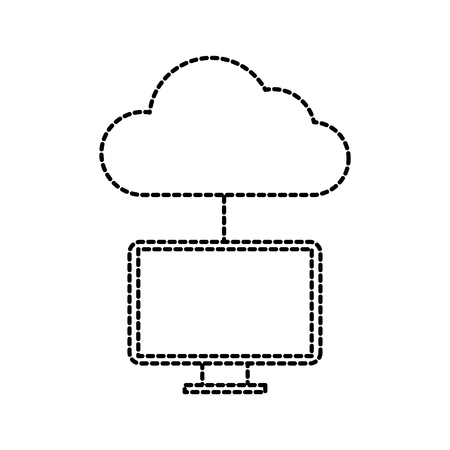 A cloud computing programming and coding software vector illustration.