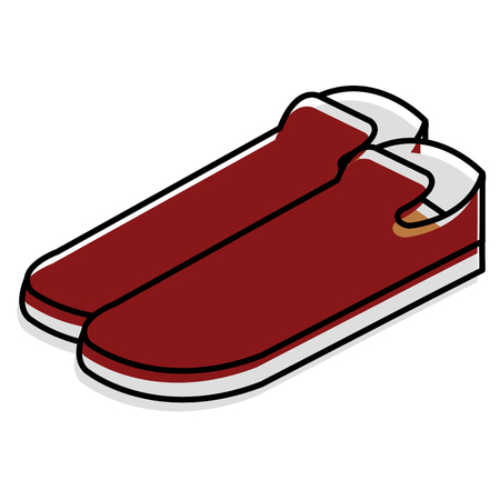 A moccasins shoes isolated icon vector illustration design.