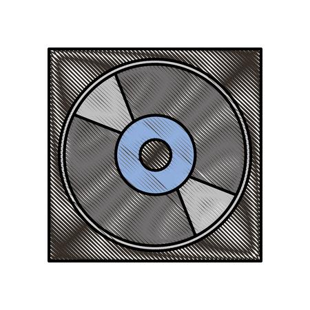 Affaire pour dvd ou cd disque compact stockage numérique vector illustration Banque d'images - 87759272