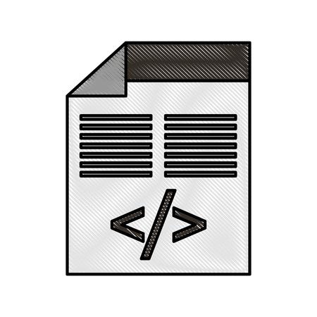 코딩 데이터 벡터 일러스트 레이 션의 스크립트와 프로그래밍 창.