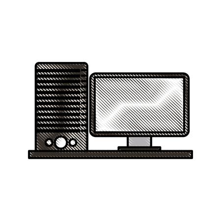 computer server software code gegevens programmeren vectorillustratie