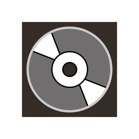 Cas pour dvd ou cd compact disque dur illustration vectorielle numérique Banque d'images - 87760838