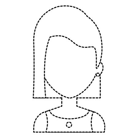 mujer hermosa avatar ilustración del vector del carácter de diseño