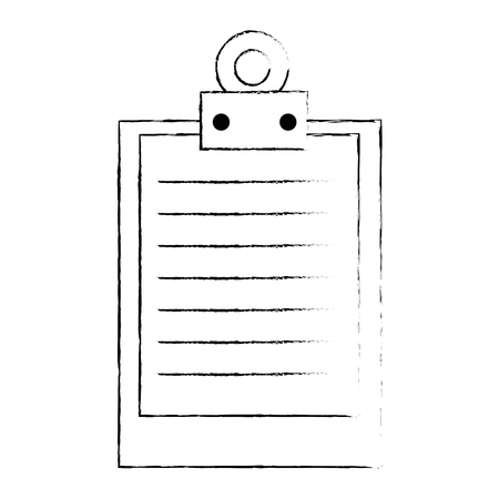 klembord document geïsoleerd pictogram vectorillustratieontwerp