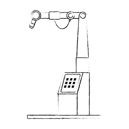 ontwerp van de assemblage het machine geïsoleerde pictogram vectorillustratie Stock Illustratie