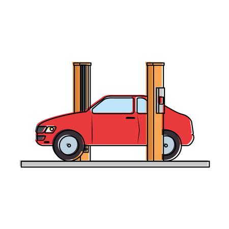 car with assembling machine vector illustration design Фото со стока - 87794402