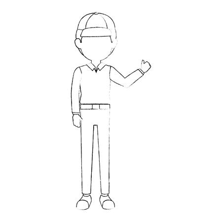 Trabajador de carácter avatar carácter vector ilustración diseño Foto de archivo - 87794289