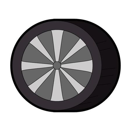 auto banden geïsoleerd pictogram vector illustratie ontwerp
