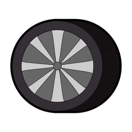 car tires isolated icon vector illustration design Zdjęcie Seryjne - 87794301
