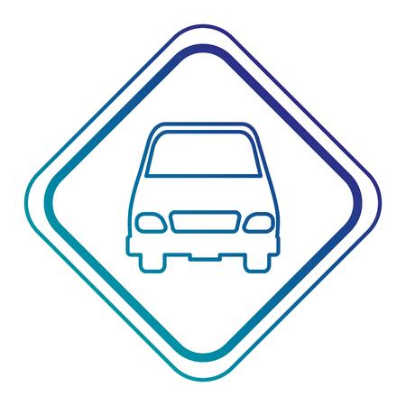 車ベクトル イラスト デザインと交通信号