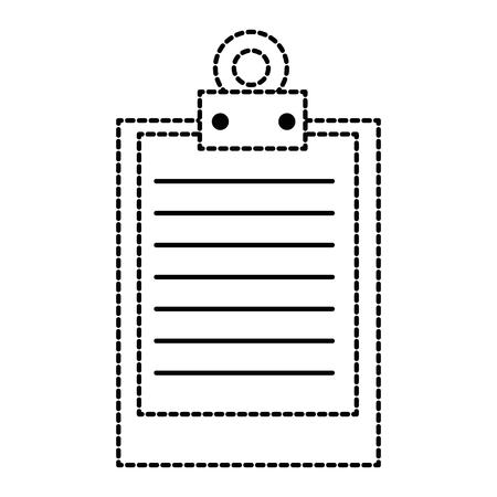 クリップボードのドキュメント アイコン ベクトル イラスト デザインを分離しました。  イラスト・ベクター素材