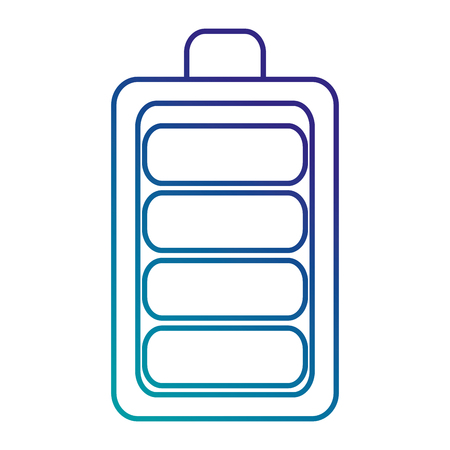Ikonenvektor-Illustrationsdesign der Batterie lokalisiertes Standard-Bild - 87833435