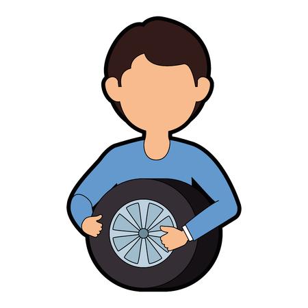 タイヤ アバター文字ベクトル イラスト デザイン メカニック 写真素材 - 87834323