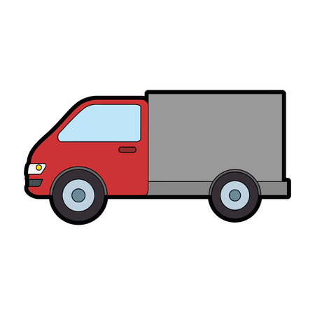 truck car isolated icon vector illustration design