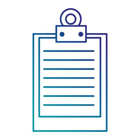 klembord document geïsoleerd pictogram vectorillustratieontwerp