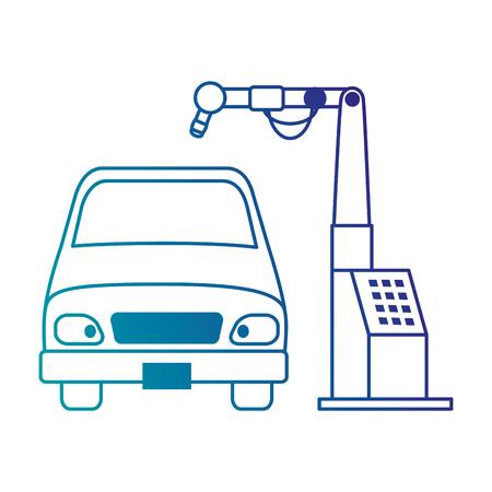 Auto mit Montage-Maschine-Vektor-Illustration-design Standard-Bild - 87836106