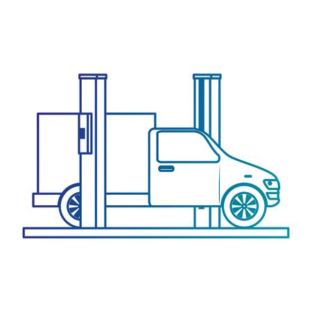 Auto mit Montage-Maschine-Vektor-Illustration-design Standard-Bild - 87836125