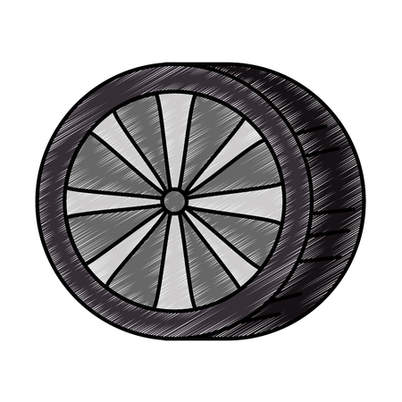 car tires isolated icon vector illustration design Zdjęcie Seryjne - 87840405