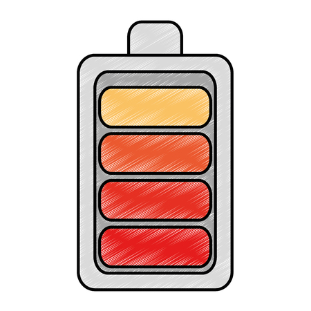battery level isolated icon vector illustration design Stok Fotoğraf - 87837497