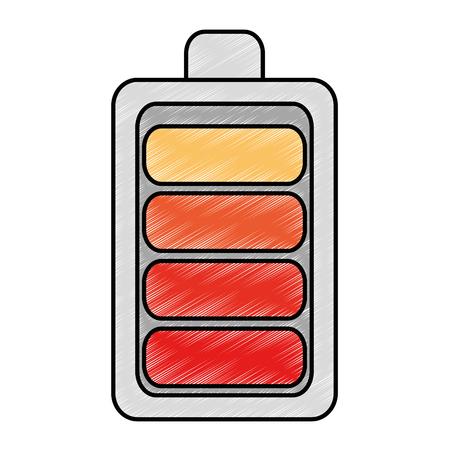 Ikonenvektor-Illustrationsdesign der Batterie lokalisiertes Standard-Bild - 87837497