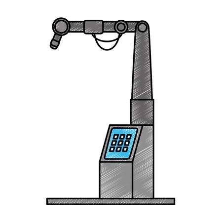 assembly machine isolated icon vector illustration design Ilustracja