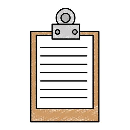 クリップボードドキュメント分離アイコンベクトルイラストデザイン