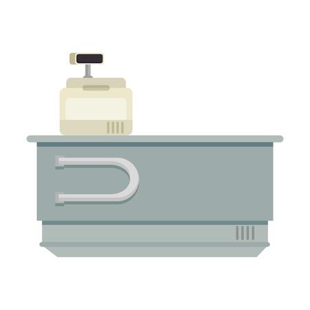 Machine à écrire avec le bureau illustration vectorielle design Banque d'images - 87843626