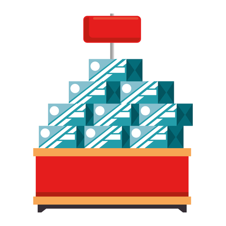 supermarket shelf with products vector illustration design Stock fotó - 87843785