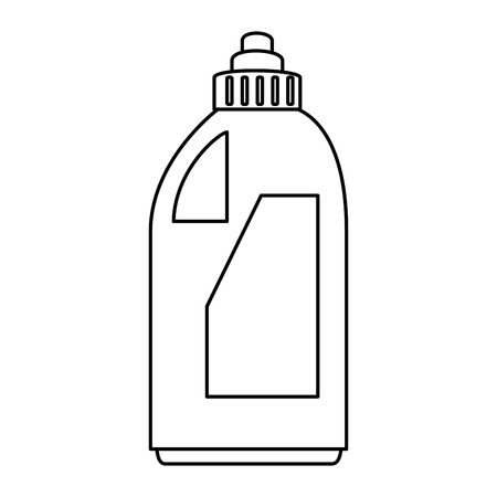 detergent bottle isolated icon vector illustration design
