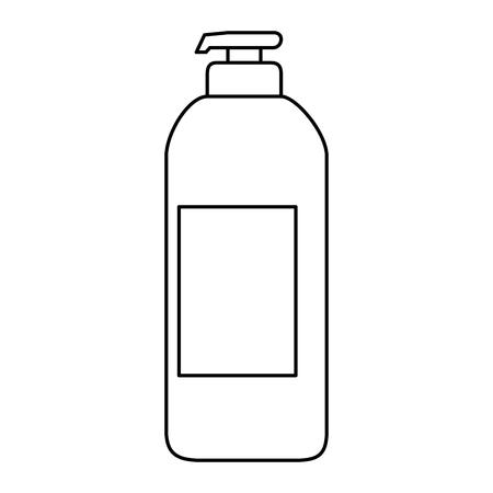 石鹸ボトル分離アイコンベクトルイラストデザイン